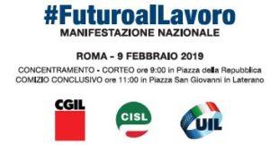 manifestazione-300x162 Manifestazione unitaria del 9 febbraio 2019: in piazza per il lavoro