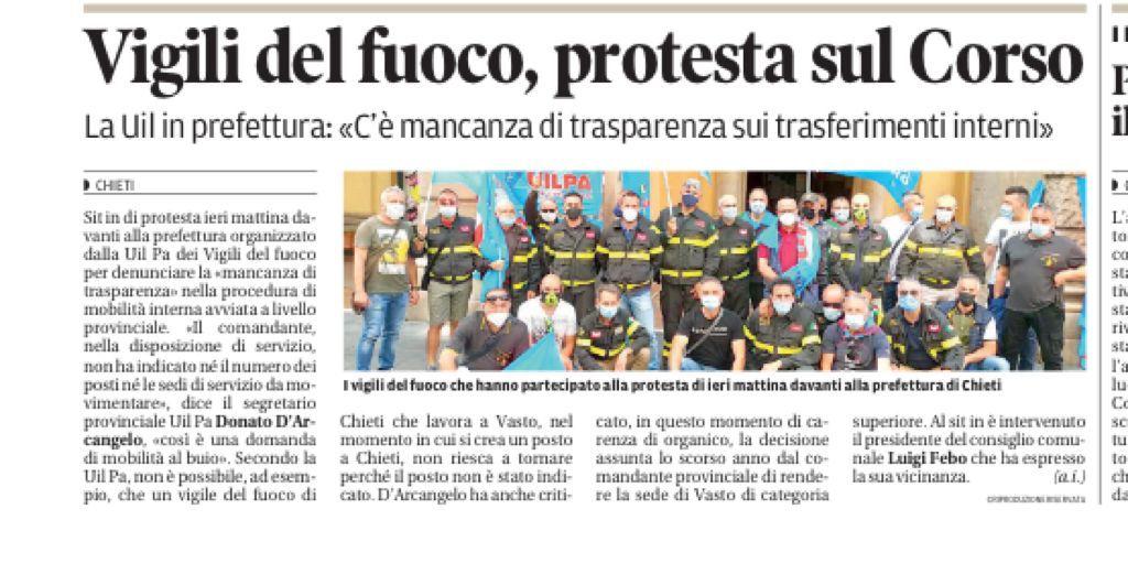 VVF-protesta-sul-Corso RASSEGNA STAMPA VERTENZA CHIETI